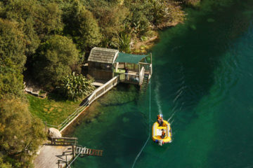 Boot bei Taupo Bungy Jumping