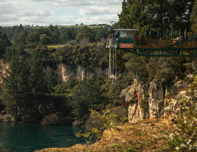 Plattform bei Taupo Bungy