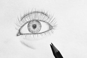 ein gezeichnetes Auge
